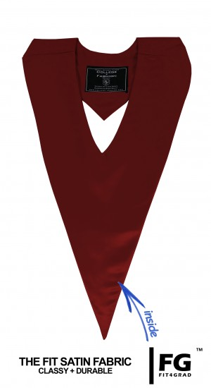 Honor V-Stole maroon red