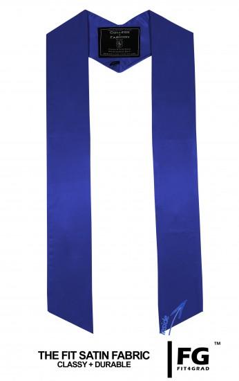 High-quality, coloured stole, royal-blue