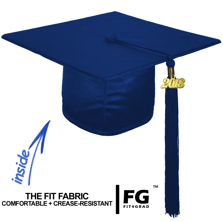 Shiny Bachelor Academic Cap, Gown & Tassel navy blue-cf101000
