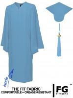 Matte Bachelor Academic Cap, Gown & Tassel sky-blue