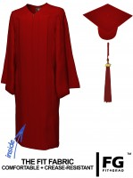 Matte Bachelor Academic Cap, Gown & Tassel maroon-red
