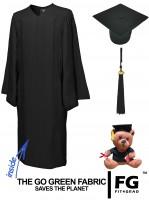 Cap, Gown & Tassel, GO GREEN, black