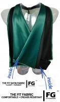 Academic Hood in black-dark green