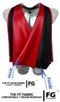 Academic hood, black-red
