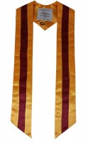High quality multicoloured stole, yellow-red-yellow