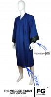 Gown, ELEGANT, blue, satin black