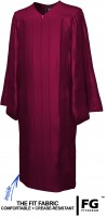 Gown, SHINY, maroon-red