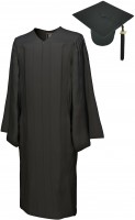 Cap, Gown & Tassel, GO GREEN, black