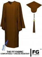 Matte Bachelor Academic Cap, Gown & Tassel brown