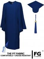 Matte Bachelor Academic Cap, Gown & Tassel navy blue