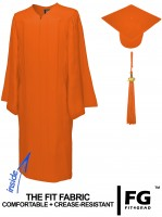 Matte Bachelor Academic Cap, Gown & Tassel orange