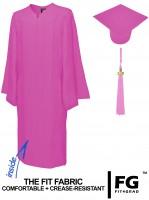 Matte Bachelor Academic Cap, Gown & Tassel pink