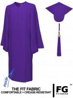 Matte Bachelor Academic Cap, Gown & Tassel purple