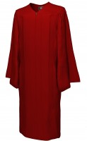 Gown, MATTE, maroon-red