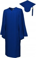 Matte Bachelor Academic Cap, Gown & Tassel navy blue