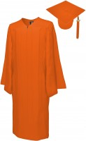 Matte Bachelor Academic Cap, Gown & Tassel orange