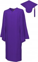 Matte Bachelor Academic Cap, Gown & Tassel purple