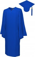Matte Bachelor Academic Cap, Gown & Tassel royal blue