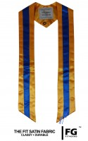 High quality multicoloured stole, yellow-blue-yellow