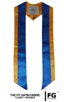 High quality multicoloured stole, yellow-blue