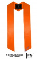 High-quality, coloured stole, orange
