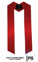 High-quality, coloured stole, ruby red