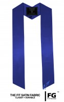 High-quality, coloured stole, royal-blue