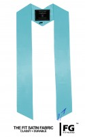 High-quality, coloured stole, cyan