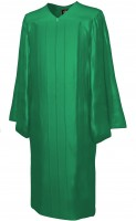 Gown, SHINY, emerald-green
