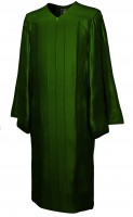Gown, SHINY, forest-green