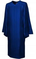 Gown, SHINY, navy-blue