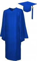Shiny Bachelor Academic Cap, Gown & Tassel royal blue